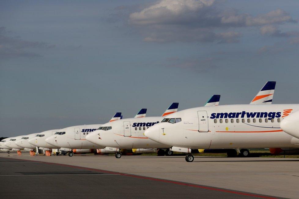 Letadla Smartwings na letišti Václava Havla v Praze