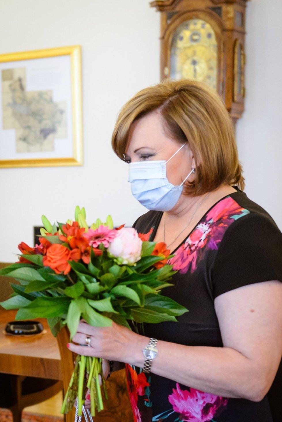 Prezident Miloš Zeman přijal na Hradě vicepremiérku a ministryni financí Alenu Schillerovou (za ANO). (16.6.2020)