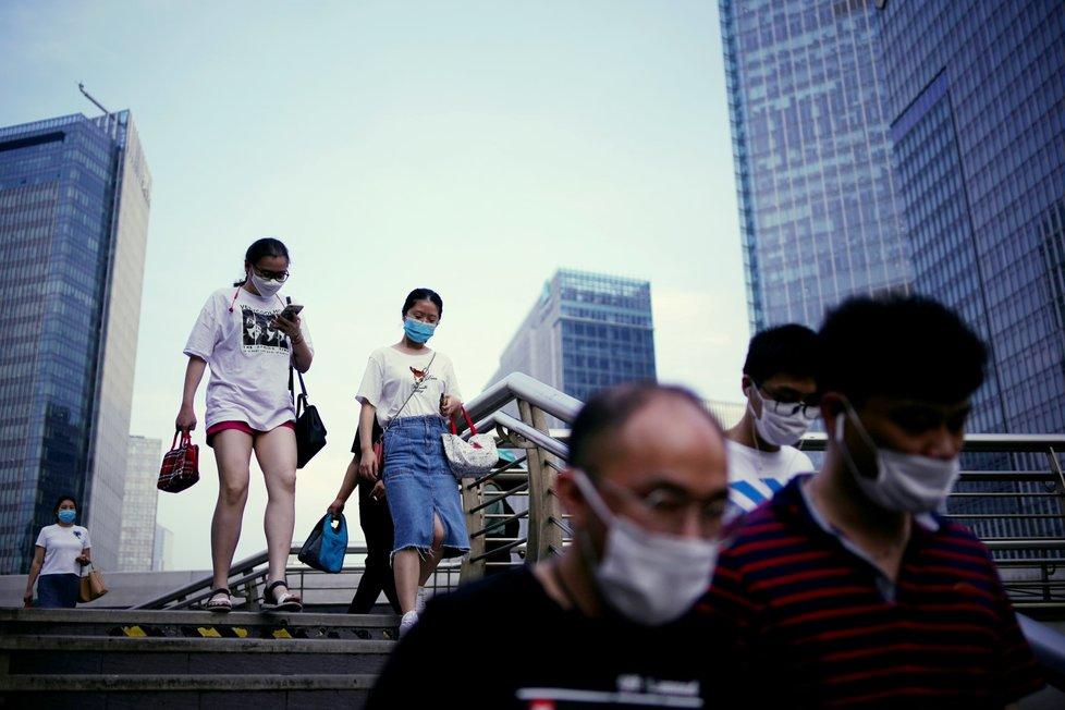 Koronavirus v čínské Šanghaji.