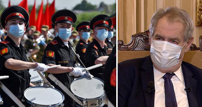Zeman nepojede na vojenskou přehlídku do Moskvy, zastoupí ho český velvyslanec