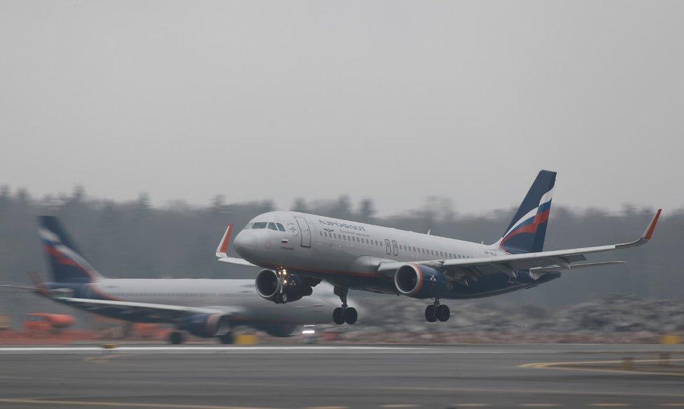 Letadlo společnosti Aeroflot.