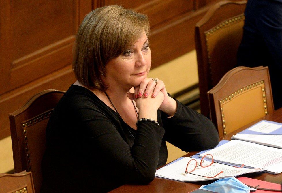 Ministrině financí Alena Schillerová