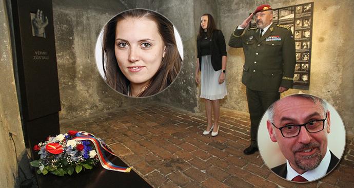Místo ministra obrany uctila památku parašutistů jeho náměstkyně.