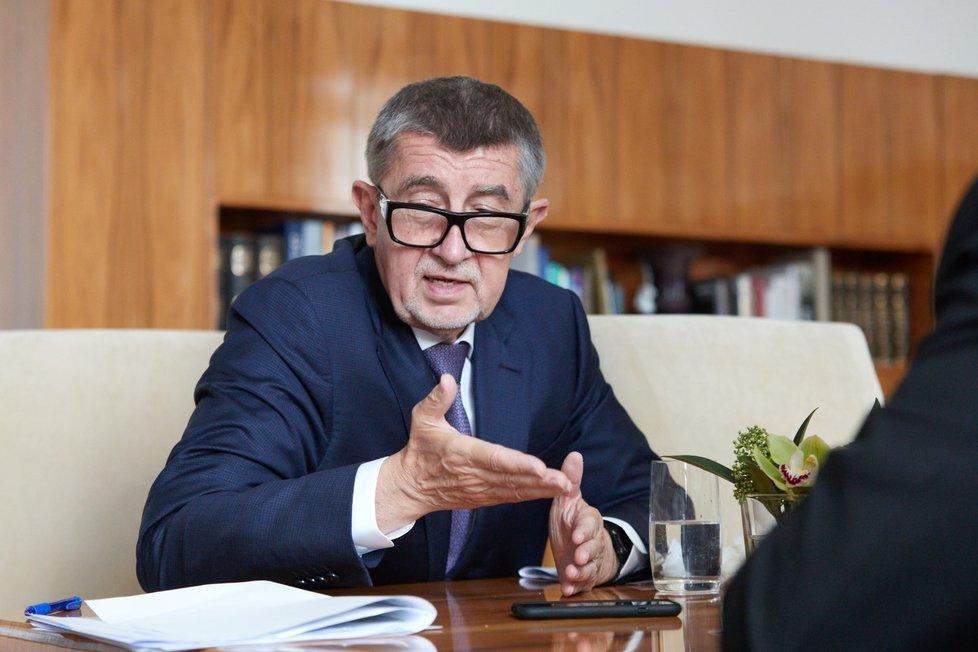 Premiér Andrej Babiš (ANO) při rozhovoru pro Blesk