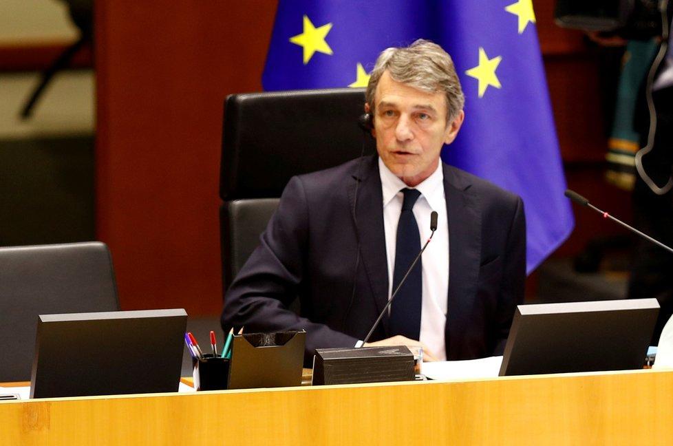 Předseda Evropského parlamentu David Sassoli