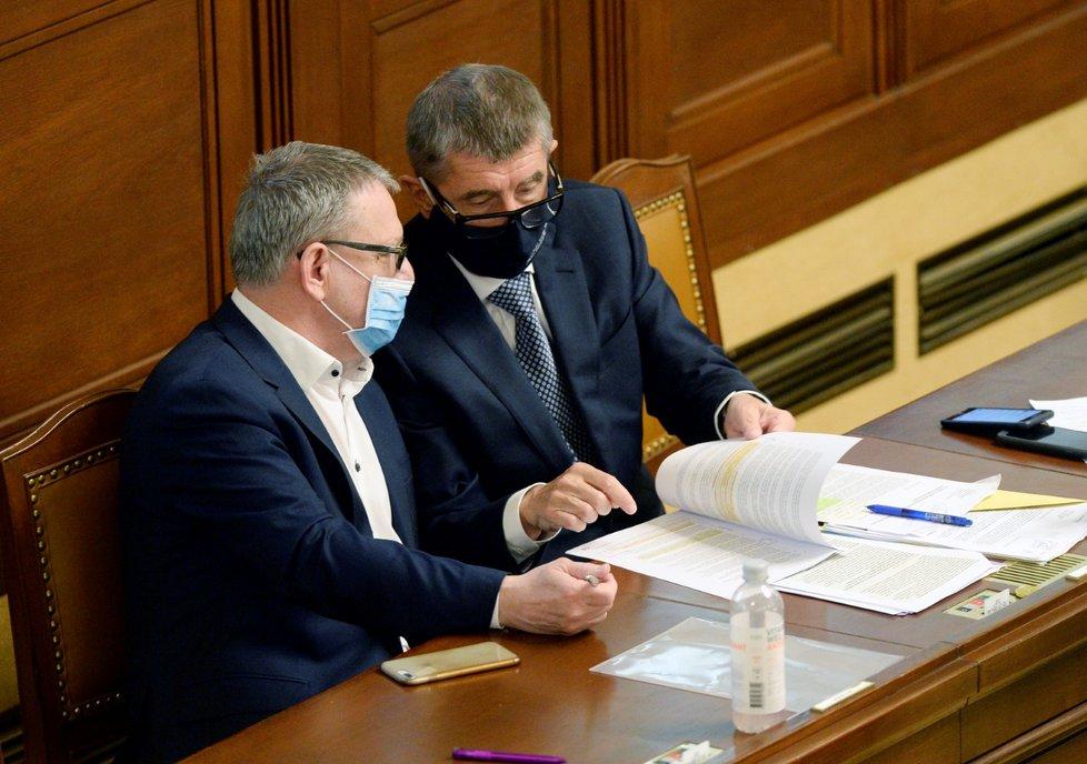 Schůze Sněmovny: Lubomír Zaorálek (ČSSD) a Andrej Babiš (ANO; 23. 6. 2020)