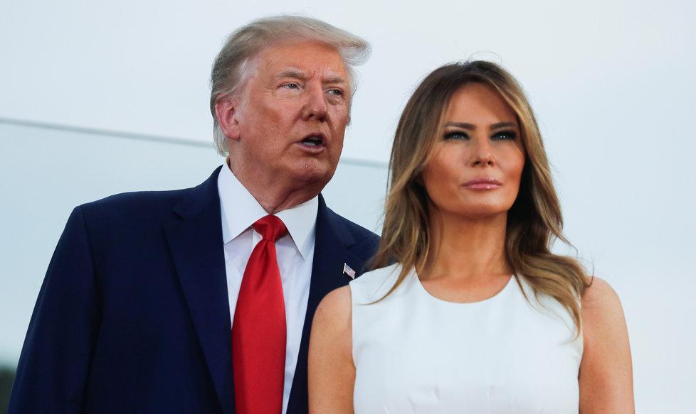 Prezident USA Donald Trump s manželkou Melanií