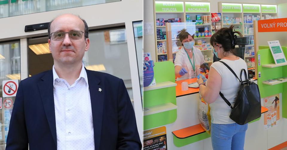 Prezident lékárnické komory Aleš Krebs pro Blesk Zprávy o fungování lékáren v době koronaviru
