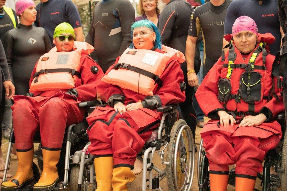 Jára během akce na podporu pacientů s ALS Prague City Swim