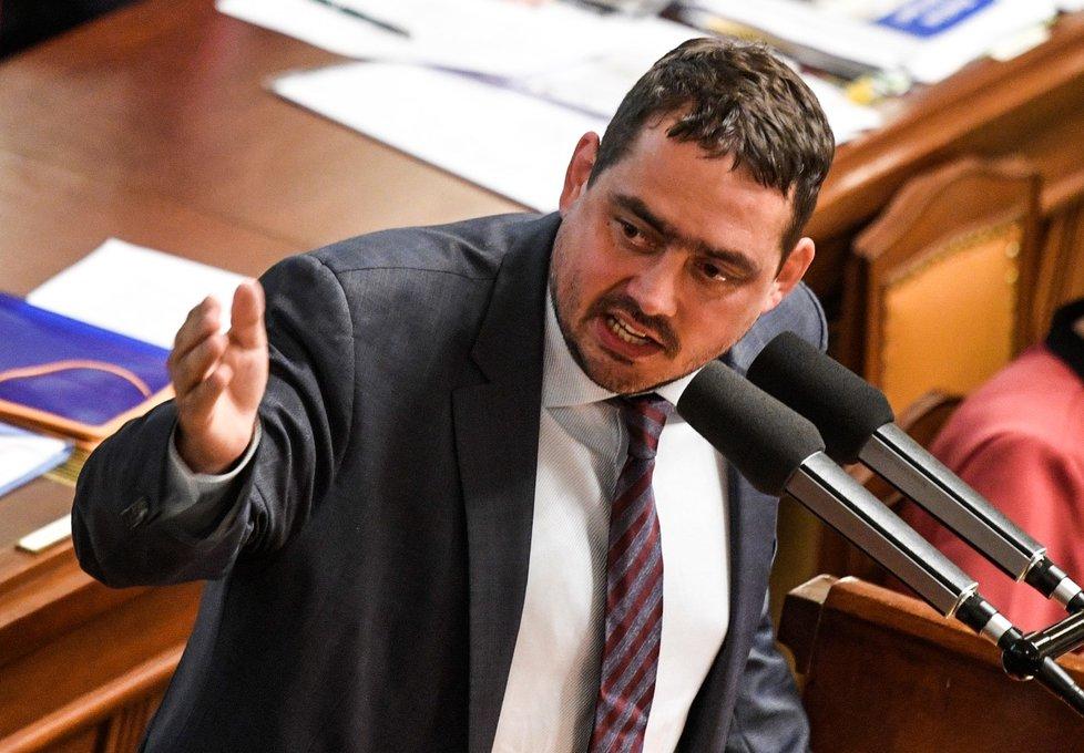 Petr Dolínek (ČSSD) na schůzi sněmovny (8.7.2020)