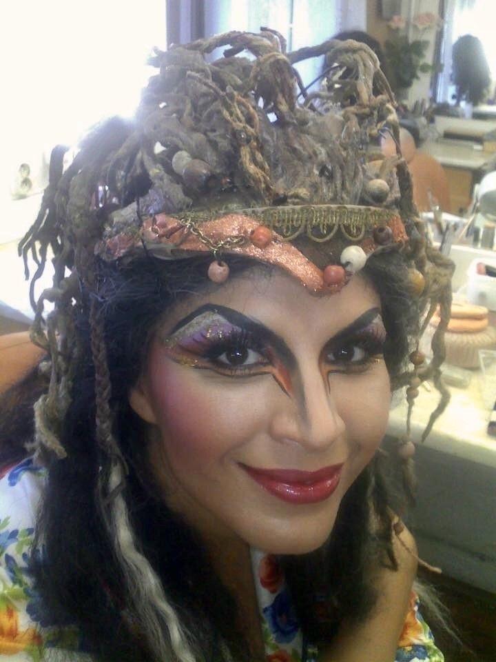 Operní pěvkyně jako Ježibaba v Rusalce