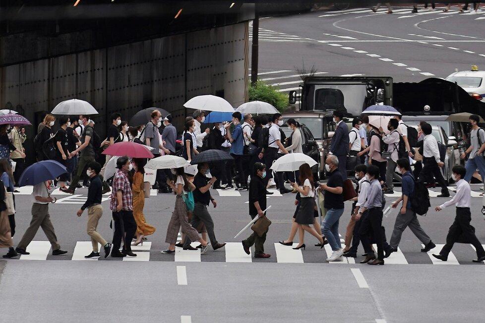 Koronavirus v japonském Tokiu. (10.7.2020)
