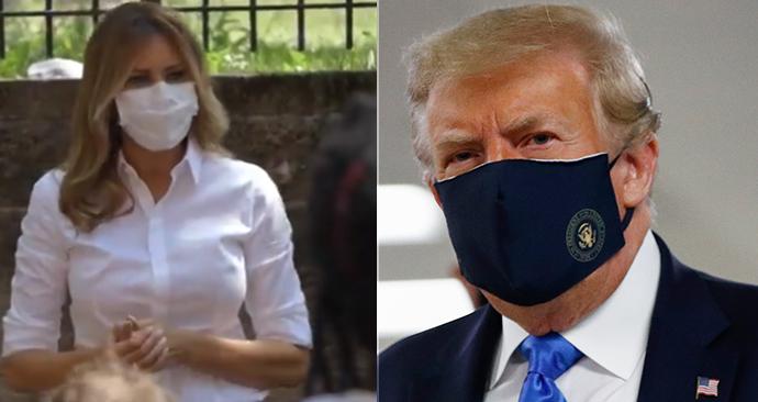 Trumpovi v rouškách