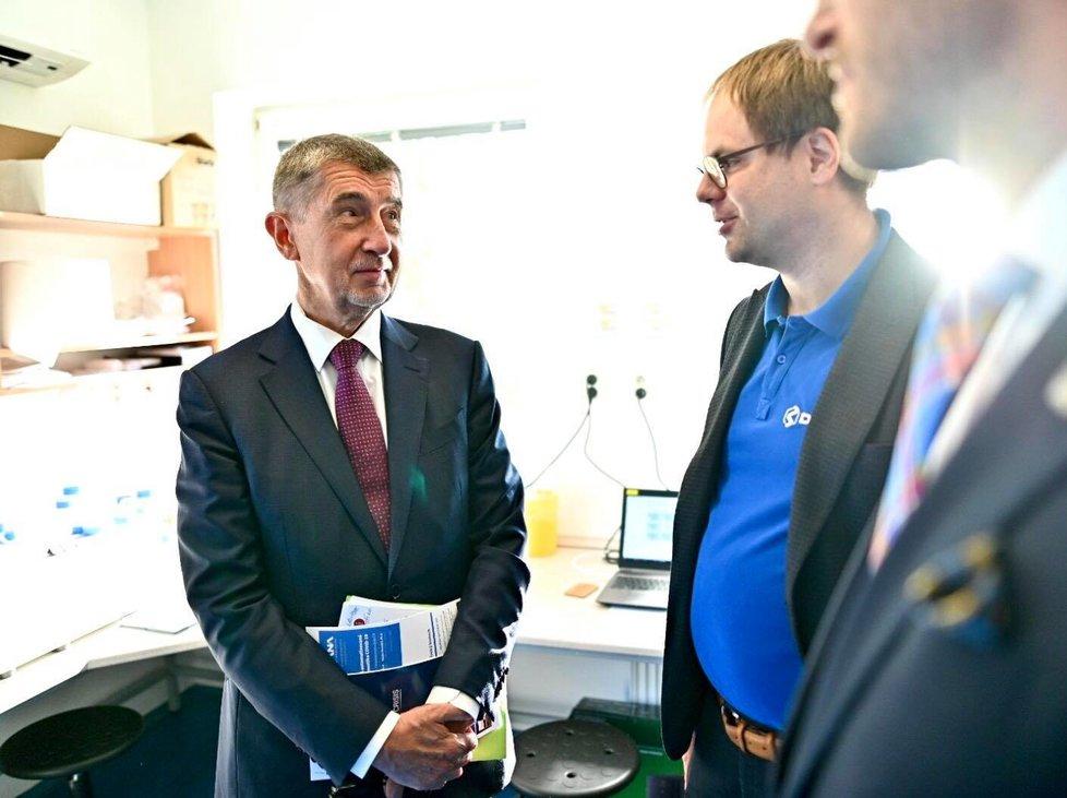 Andrej Babiš jednal se společností Diana Technologies o přístroji, který za jeden den otestuje až 1000 lidí na koronavirus