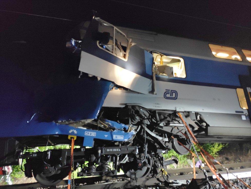 Srážka dvou vlaků u Českého Brodu