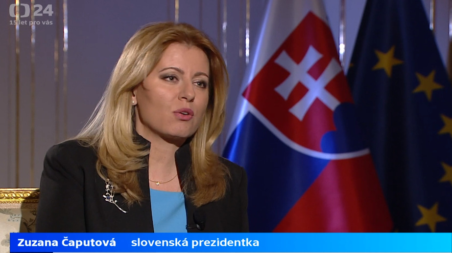 Zuzana Čaputová byla hostem v ČT 24. Okomentovala koronavirovou krizi, ale i svůj první rok v úřadě