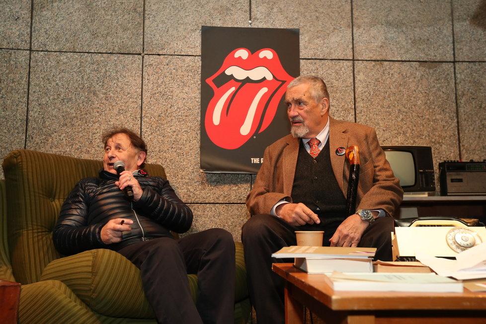 Čestný předseda TOP 09 Karel Schwarzenberg s Michaelem Žantovským
