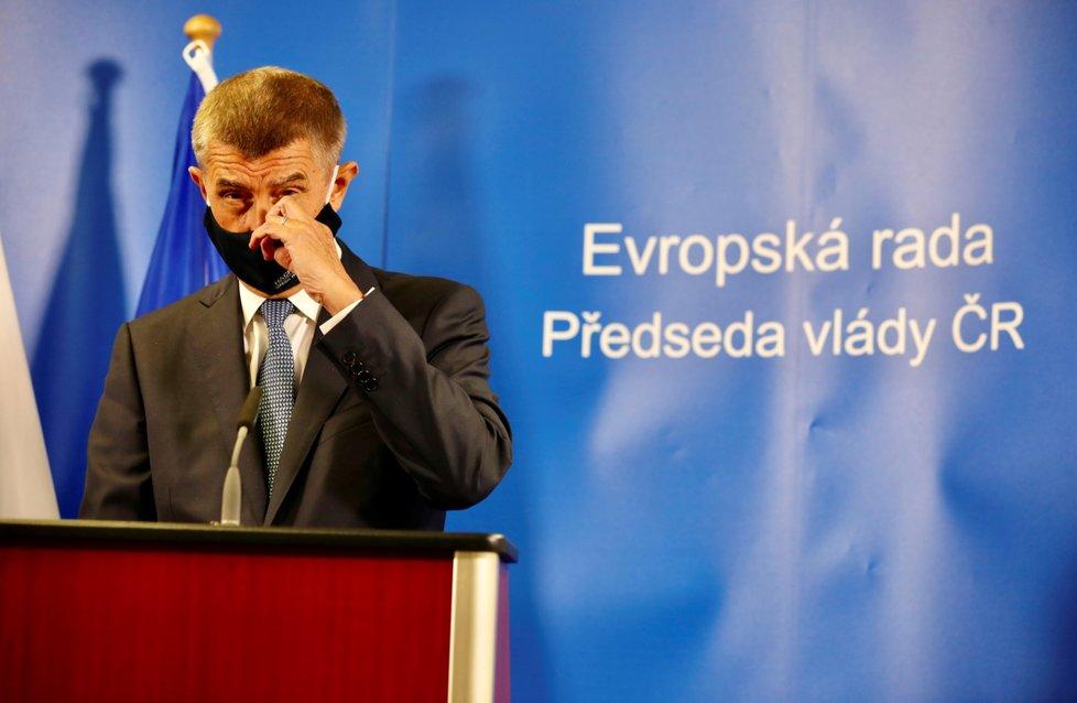 Český premiér Andrej Babiš na evropském summitu v Bruselu