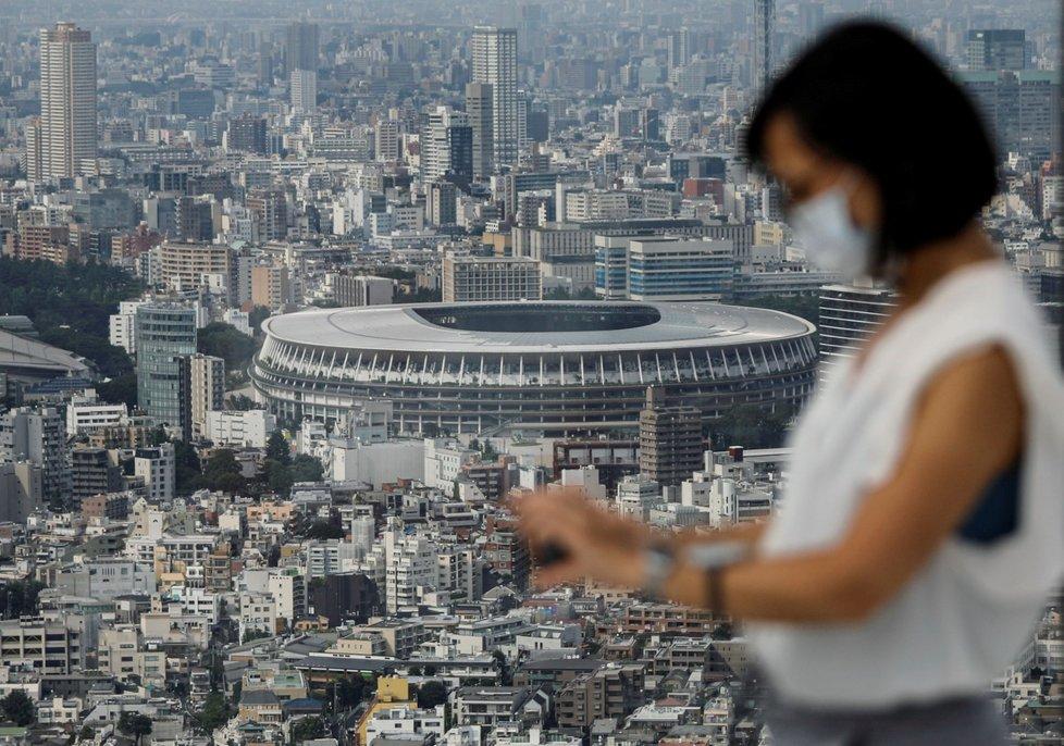 Stadion v Tokiu, kde se budou konat Olympijské hry. (20.7.2020)
