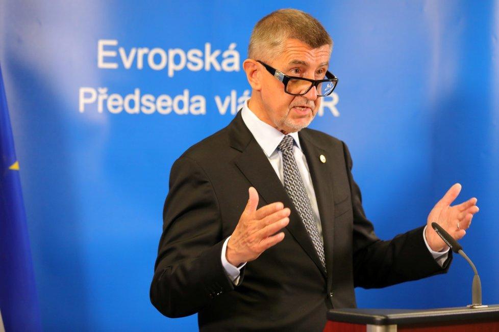 Český premiér Andrej Babiš na evropském summitu v Bruselu (20. 7. 2020)
