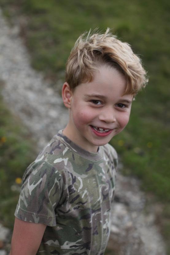 Prince George vyfotila k 7. narozeninám vévodkyně Kate