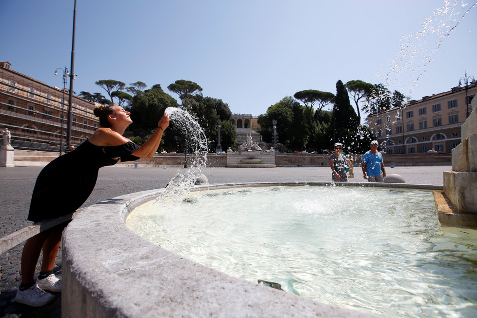 Itálie zažívá vlnu silných veder (31. 7. 2020).