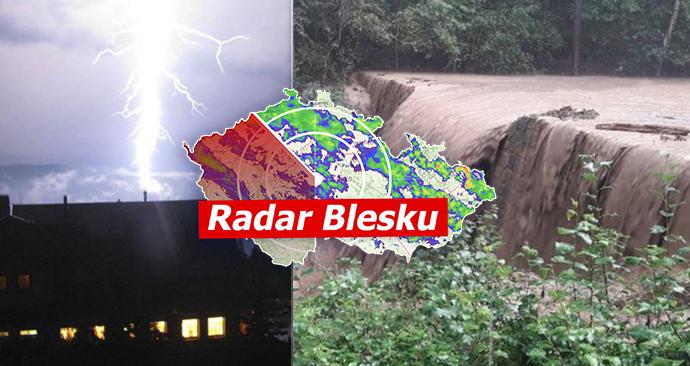 Do Česka míří silné bouřky, hrozí i záplavy.