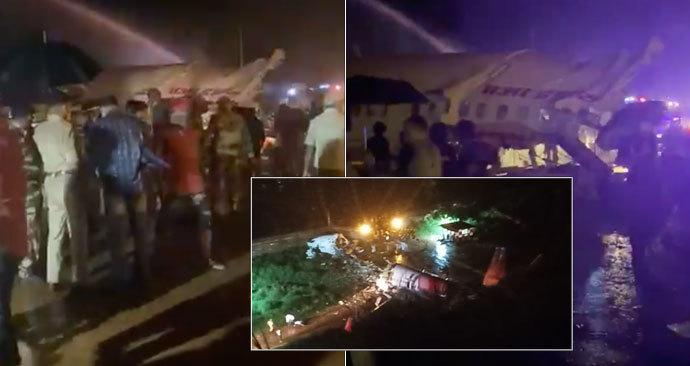 Na letišti v indickém Kalikatu havarovalo letadlo Air India, které letělo z Dubaje