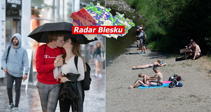 Horko příští týden zvolna ustoupí. Druhá půlka srpna bude deštivá, sledujte radar Blesku