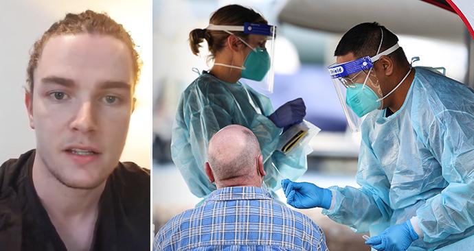 Ausstralský ošetřovatel Daniel Collins popsal boj s koronavirem.