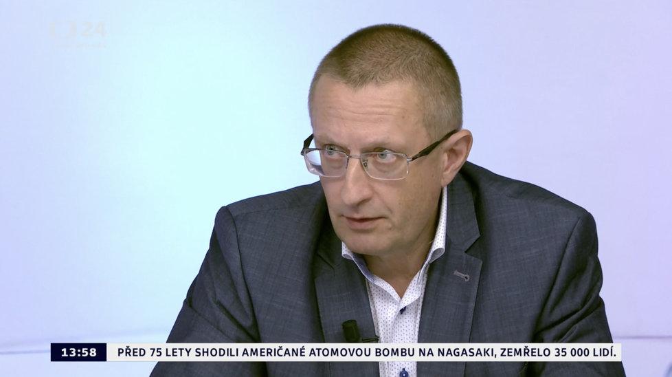 Ředitel Ústavu zdravotnických informací a statistiky (ÚZIS) Ladislav Dušek v Otázkách Václava Moravce