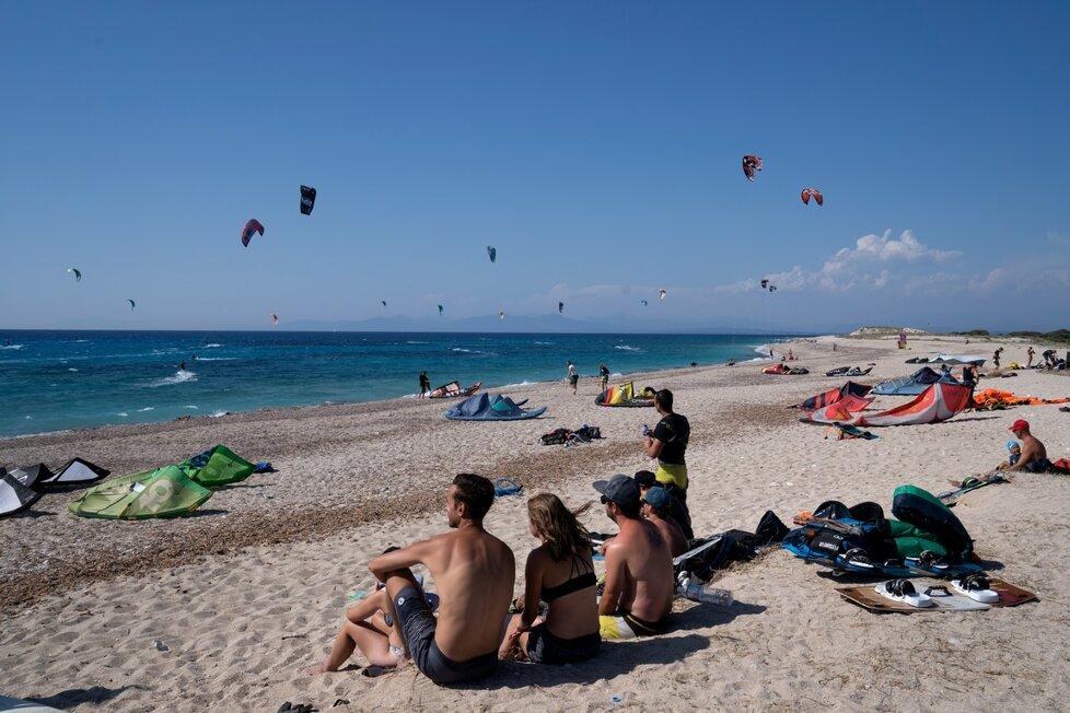 Turisté si užívají dovolenou na ostrově Lefkada.