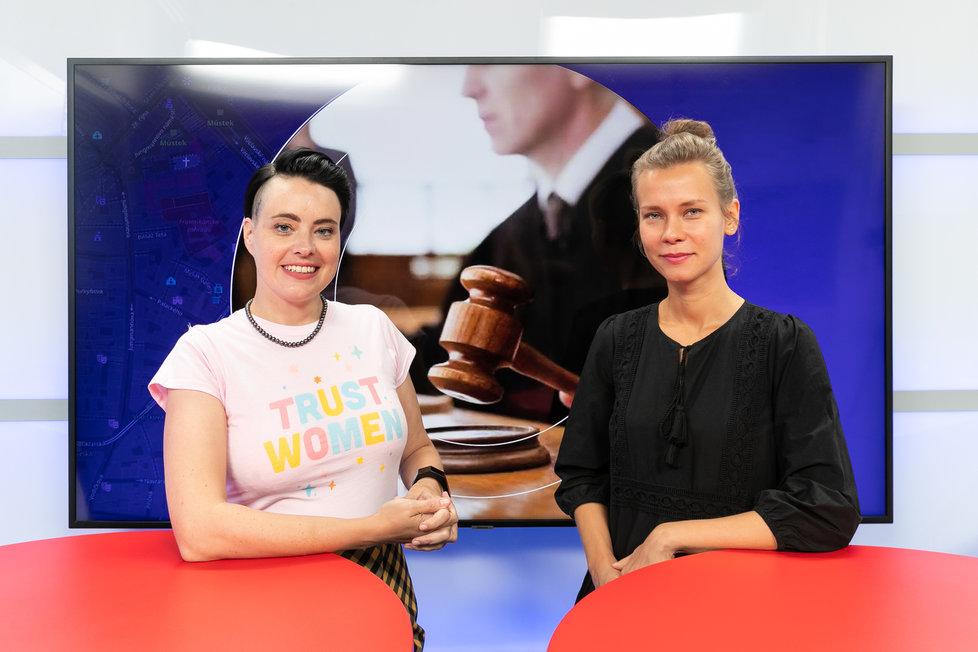 Advokátka Lucie Hrdá v redakci Blesku