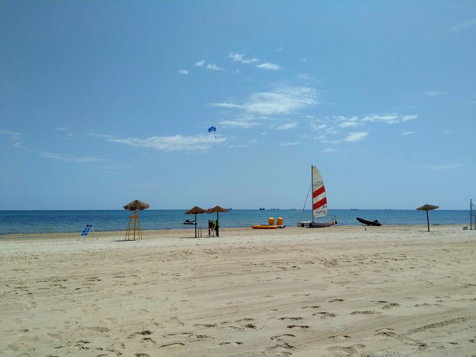 Pláž v Hammametu