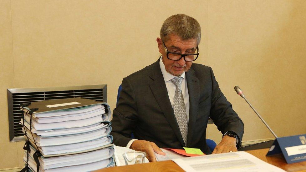 Premiér Andrej Babiš na jednání vlády. (24.8.2020)