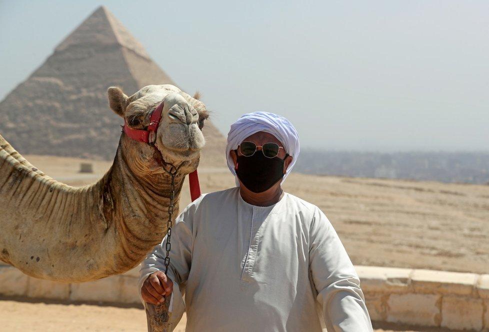 Opatření proti koronaviru v Egyptě.