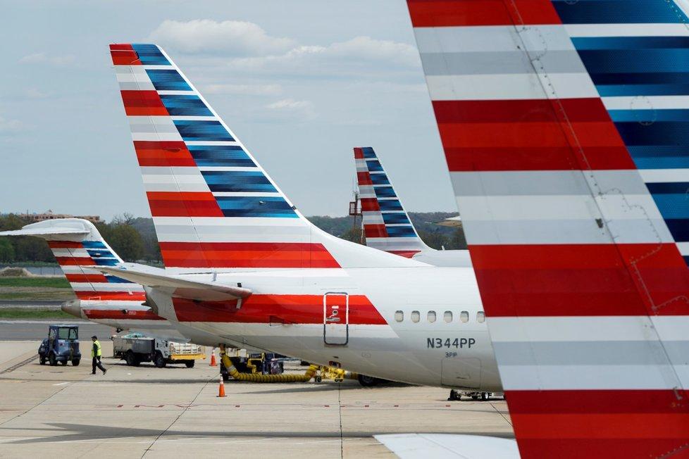 Odstavená letadla American Airlines.