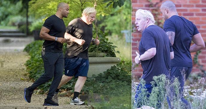 Johnson jde po nákaze covidem do hubnutí zostra. Běhá s osobním koučem celebrit