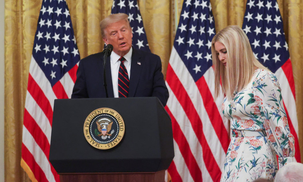 Ivanka Trumpová, dcera a poradkyně prezidenta USA Donalda Trumpa.