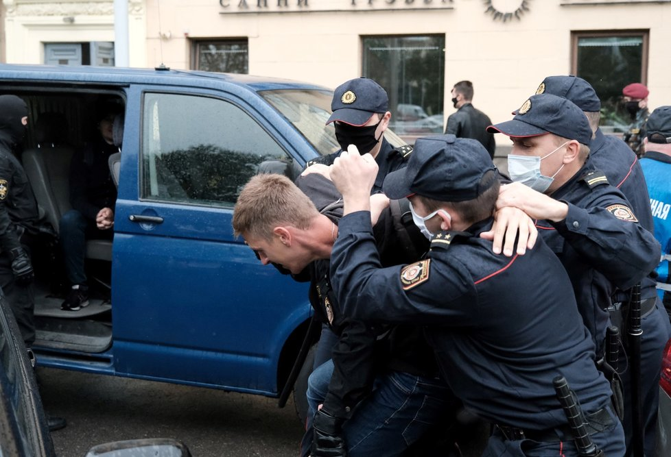 Protesty v Bělorusku. (1.9.2020)