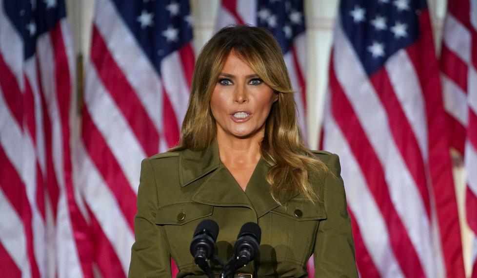První dáma USA Melania Trumpová na sjezdu republikánů v srpnu 2020