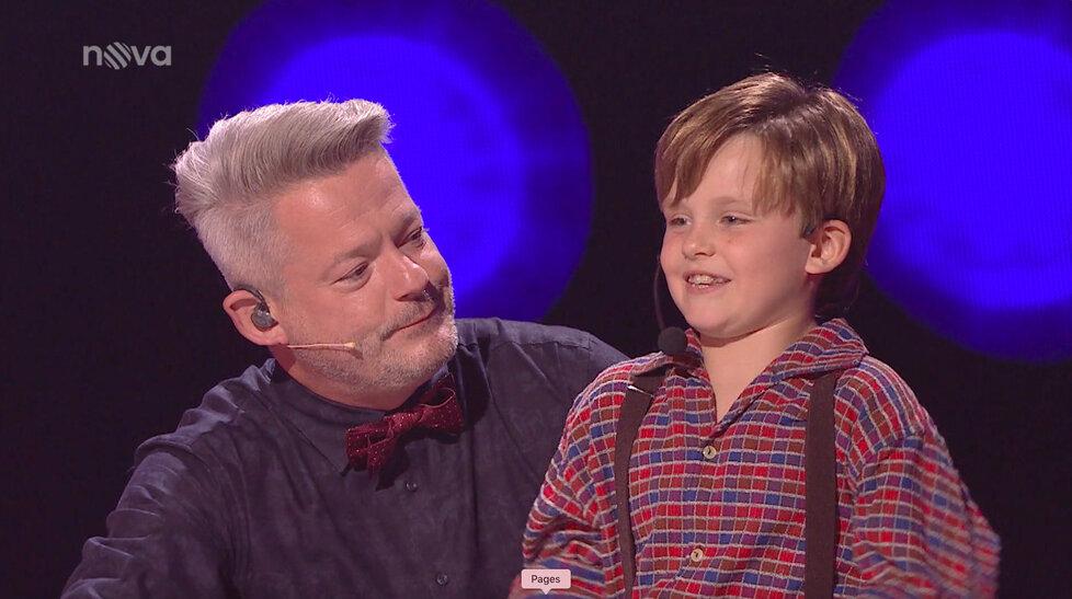 Syn Pepy Vojtka Adam hodnotil výkon Bořka Slezáčka, který vystoupil v přestrojení za jeho tátu.