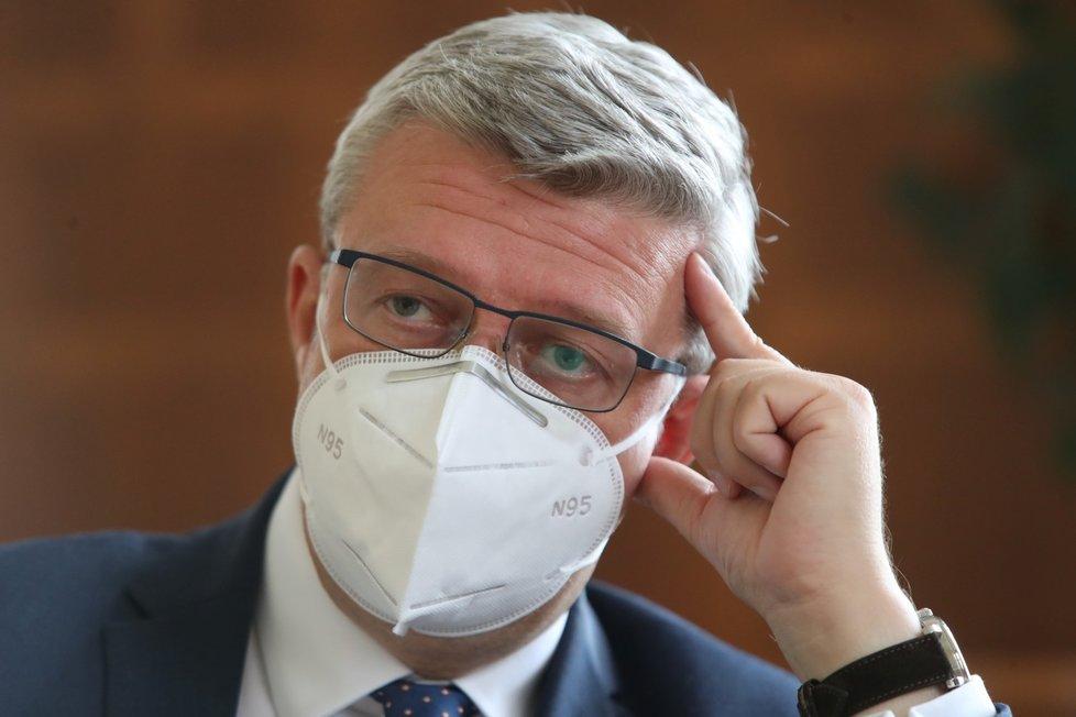 Ministr dopravy, průmyslu a obchodu Karel Havlíček (za ANO) během rozhovoru pro Blesk Zprávy (11.9.2020)