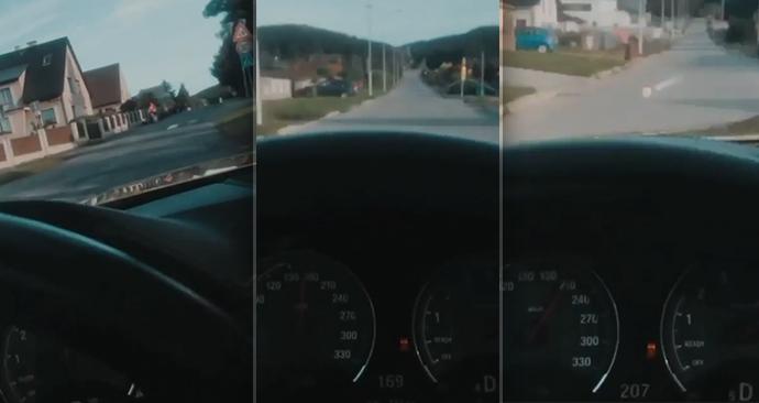 Mladík jel obcí rychlostí přes 200km/h.