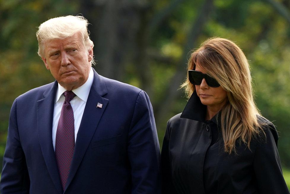 Prezident USA Donald Trump s manželkou Melanií na pietě k 19. výročí teroristického útoku z 11. září 2001.
