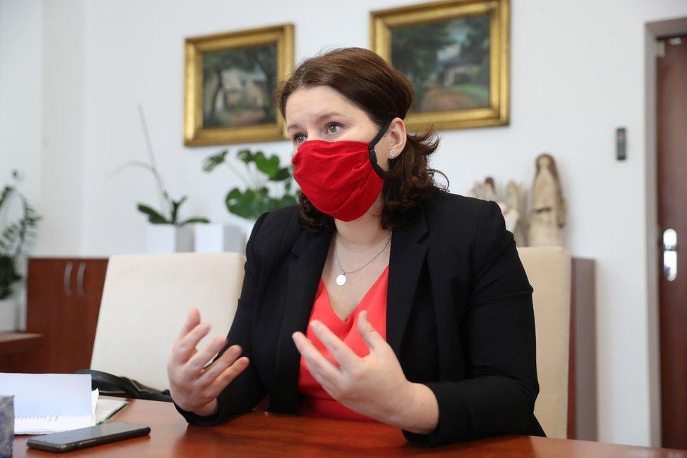 Ministryně práce a sociálních věcí Jana Maláčová (ČSSD) při rozhovoru pro Blesk.
