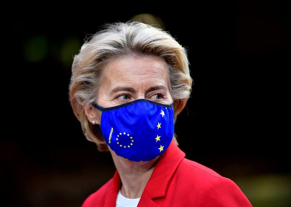 Summit evropských lídrů v Bruselu (2. 10. 2020): šéfka Evropské komise Ursula von der Leyenová