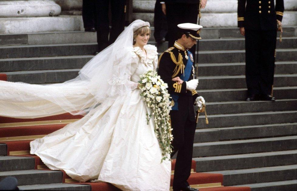 Svatební šaty princezny Diany