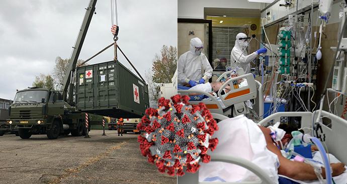 Koronavirus ONLINE: Již 3415 hospitalizovaných v ČR. Armáda nakládá lůžka pro polní nemocnici.