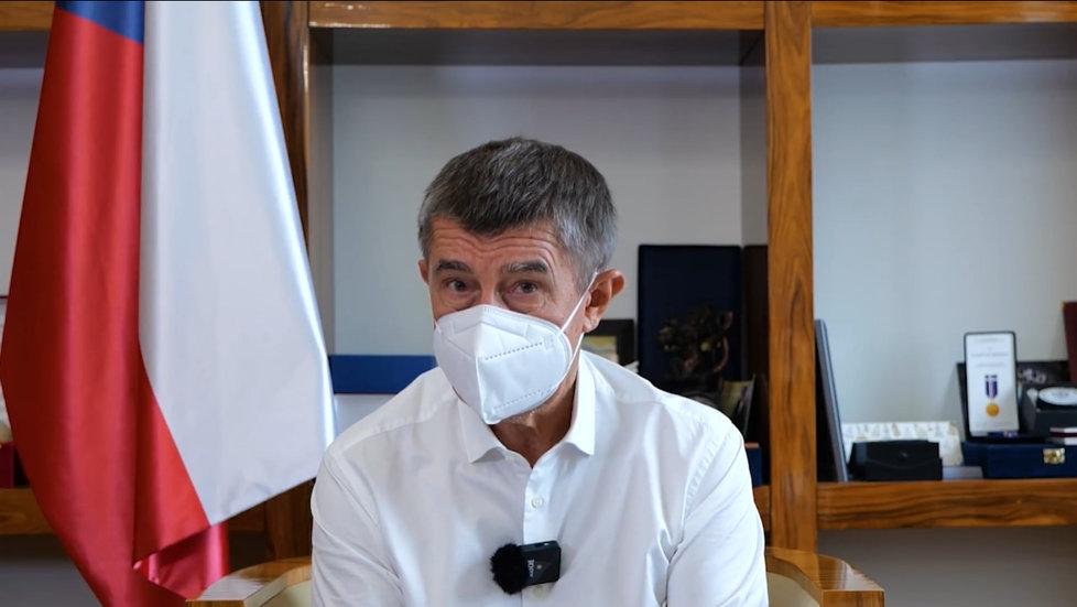 Premiér Andrej Babiš (ANO) promluvil k občanům v pravidelném informačním videu. (18.10.2020)